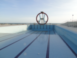 the olympic-size swimming pool at Lido di Ostia
