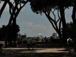 view of St Peter's Dome from the Savello park or giardino degli aranci on the Aventine hill