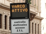 restricted traffic area in Rome