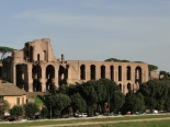 remains of past glory on the Palatine hill