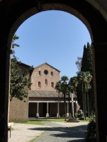 Entrance to the Tre Fontane Monastery