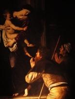Caravaggio's Madonna dei Pellegrini