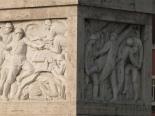 Fascist reliefs on the Duca D'Aosta bridge leading to the Foro italico