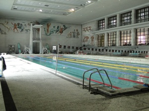 50 metres mosaic swimming pool in the Foro Italico