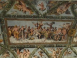 Loggia's fresco representing the wedding banquet